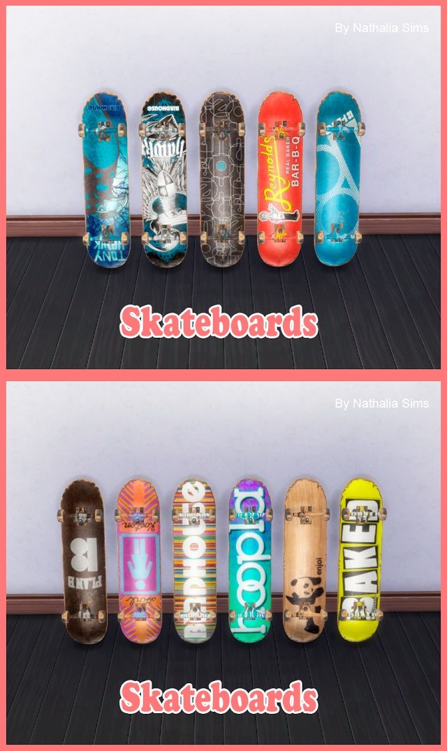 Skateboards by Nathalia Sims