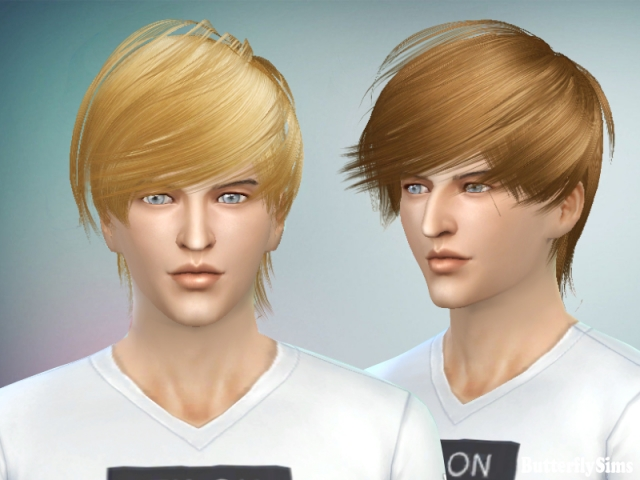 Hairstyle F&M023_NO hat by Butterflysims