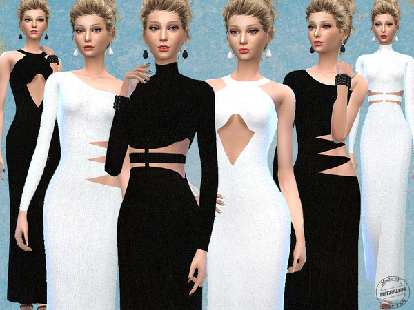 Cut Out Knitted Maxi Dresses by Fritzie.Lein
