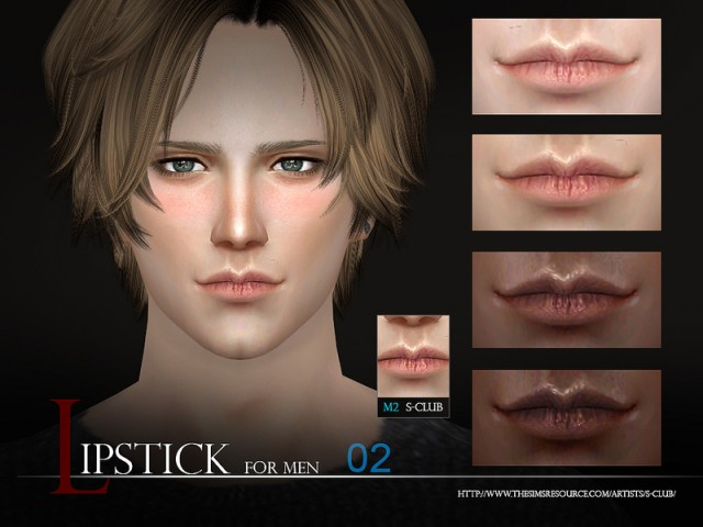 WM thesims4 Lipstick Men02 By S-Club