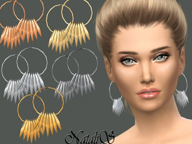 Spiked array hoop earrings by NataliS
