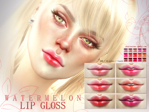 Watermelon Lip Gloss N65 by Pralinesims