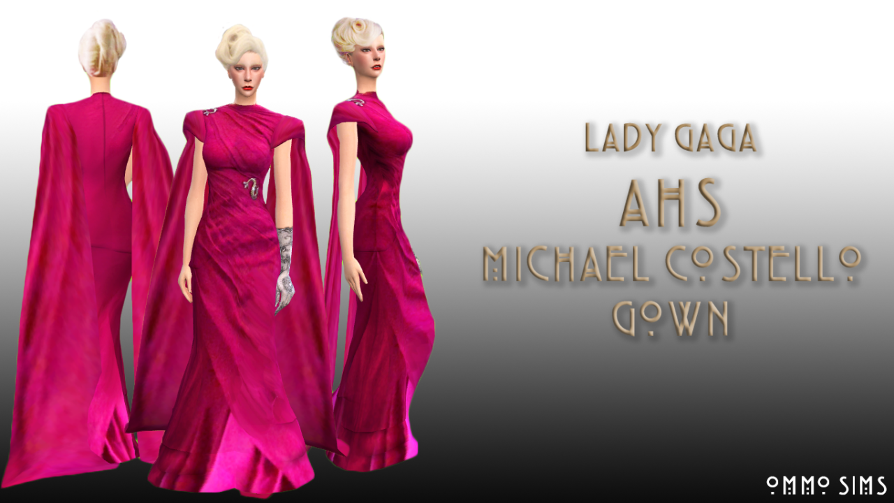 Michael Costello Gown by Ommosims