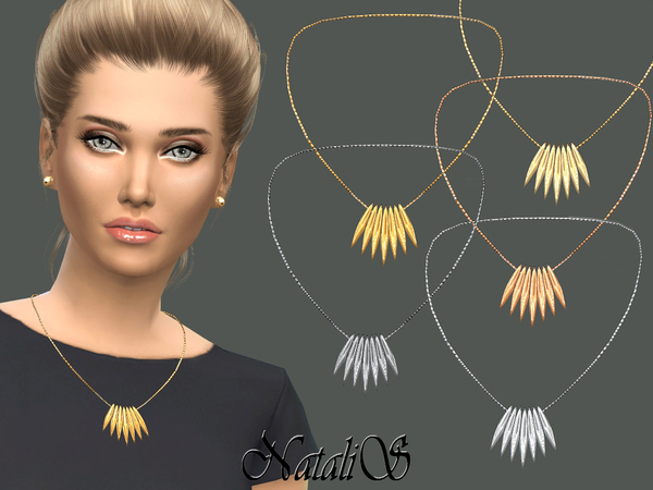 NataliS_Spiked array necklace