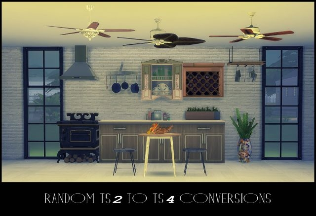 TS2 Random Kitchen and Ceiling Fans Conversions by Daer0n