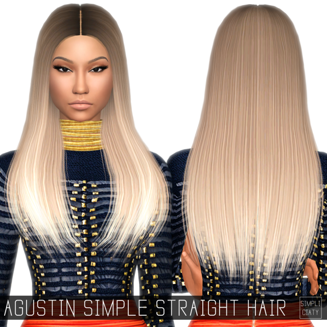 AGUSTIN SIMPLE STRAIGHT HAIR (CONVERSION) by simpliciaty