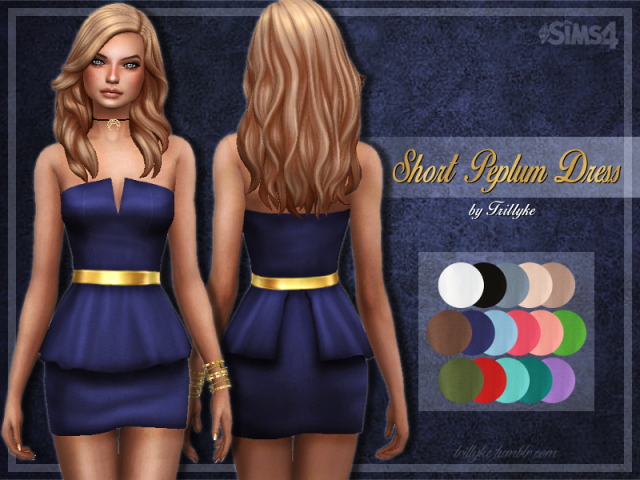 Short Peplum Dress by trillyke