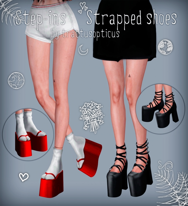 Step-ins & Strapped shoes by tractusopticus