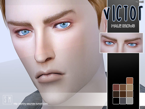 [ Victor ] - Male Brows by Screaming Mustard