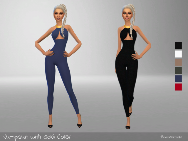Jumpsuit with Gold Collar! by somesimsgirl