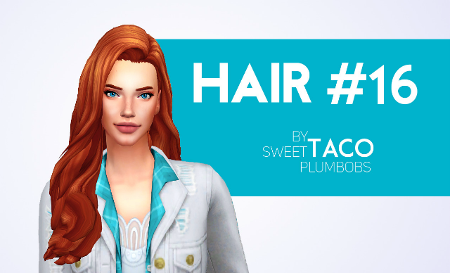 HAIR #16 by SweetTacoPlumbobs
