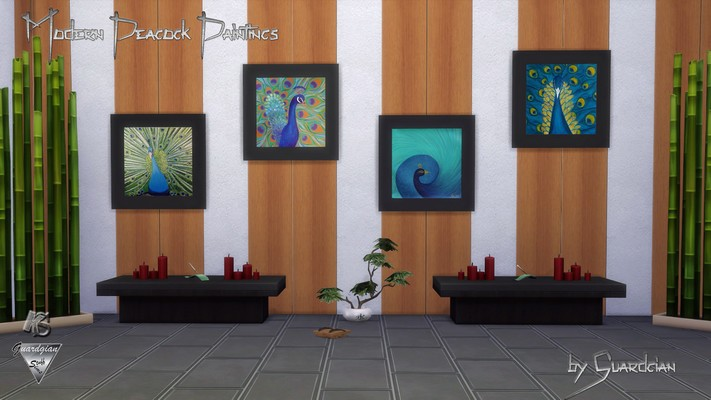 Peacock Paintings by Guardgian
