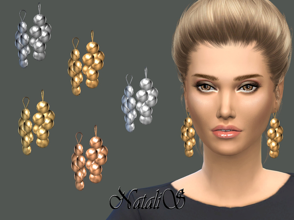 NataliS_Metal daped disc earrings