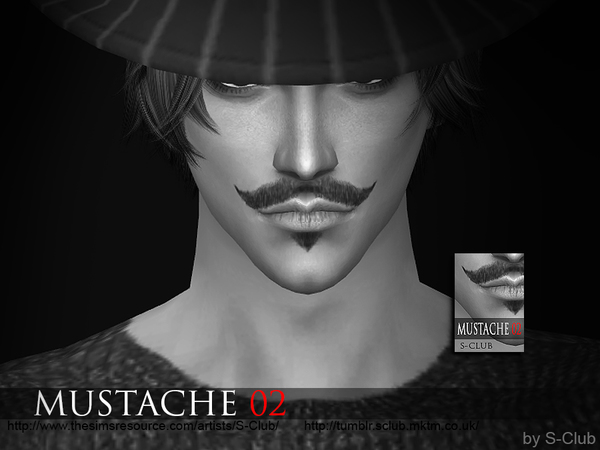 S-Club WM thesims4 Mustache 02