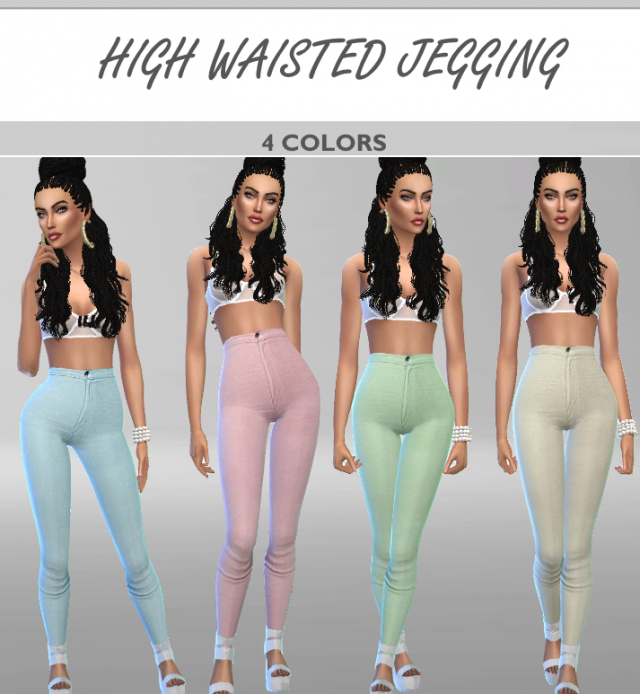 High waisted jegging by Puresim