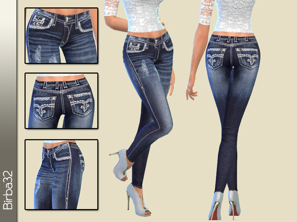 White stitching jeans by Birba32