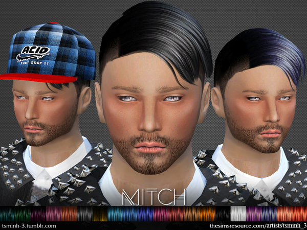 MITCH  Hairstyle 2 by tsminh_3