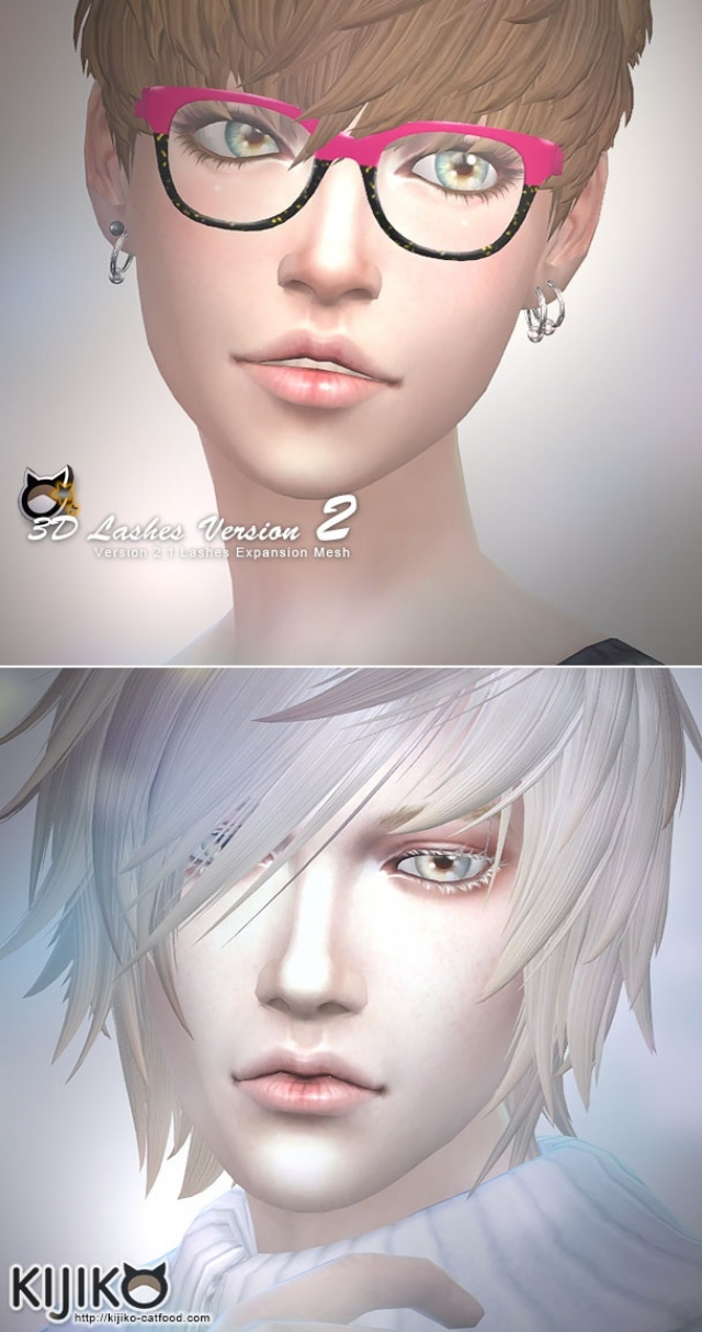 3D Lashes Version2 (Skin Detail) Updated by Kijiko