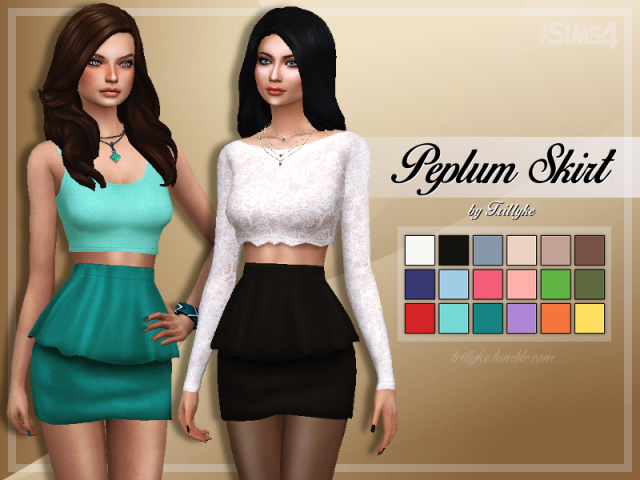 Peplum Skirt by Trillyke