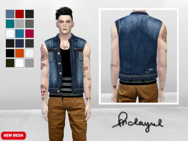Rebels Beat Denim Vest by McLayneSims