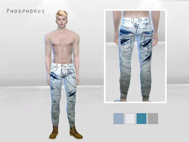 Light Bleached Gazer Denim Jeans by McLayneSims