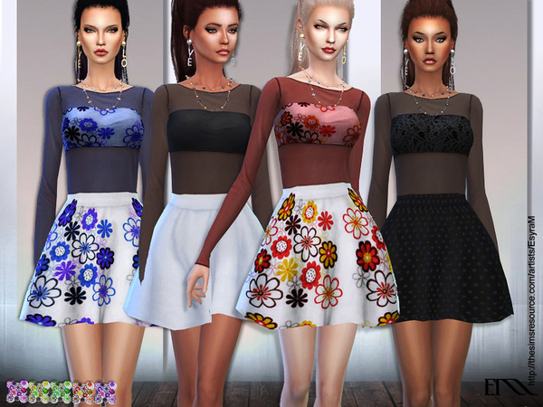 Spring flower dress1 by EsyraM