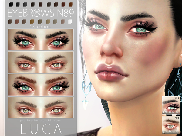 Luca Eyebrows N89 by Pralinesims