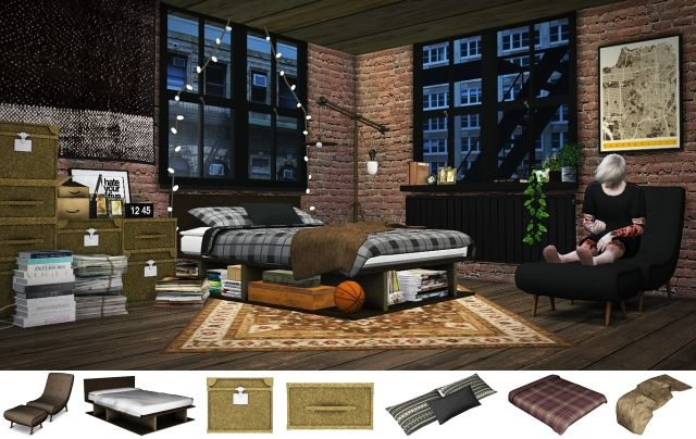 Industrial Rustic Bedroom by MXIMS