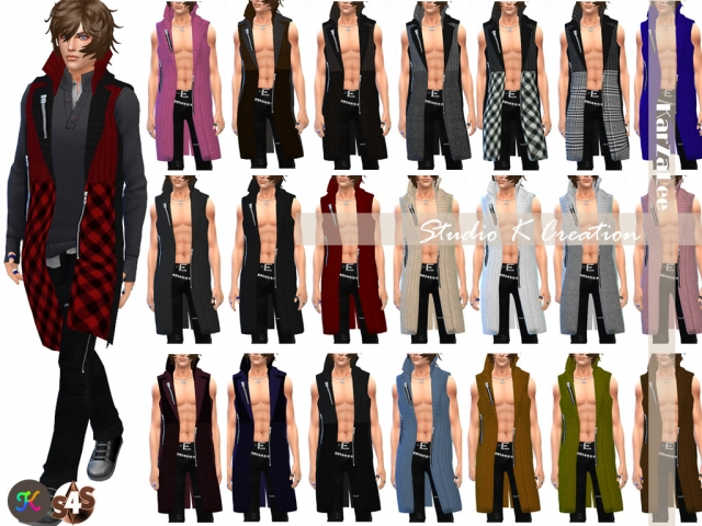 Long Cardigan for men by Karzalee