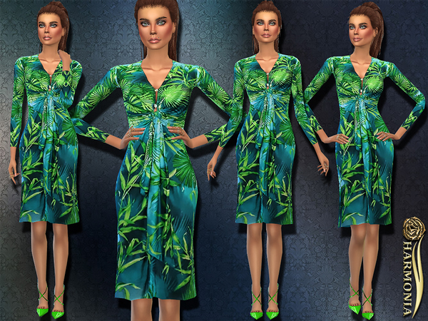 Most Iconic Jungle Printed Silk Dress by Harmonia
