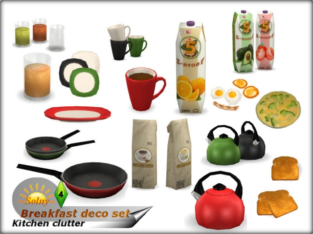 'Breakfast' decorative set by Solny
