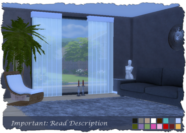 Transparent Lamellae Blinds by Devilicious