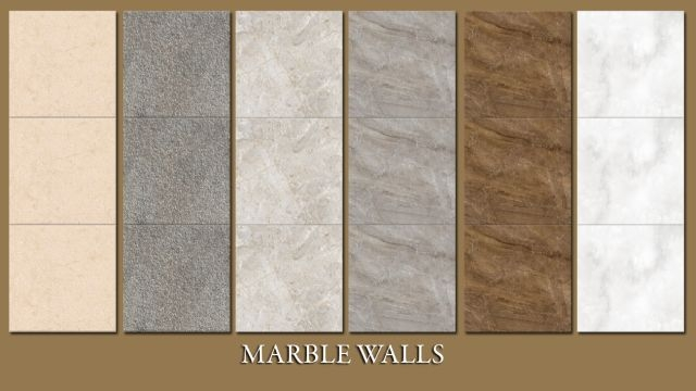 Marble Walls by PralineSims