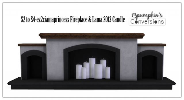 S2 to S4 Fireplace & Candles by 13pumpkin