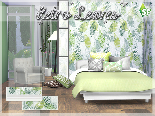 Retro Leaves by SimFabulous