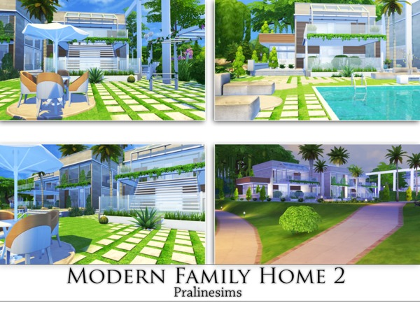 Modern Family Home 2 by Pralinesims