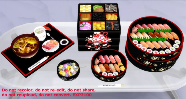 Japaniese food set by Exp3100