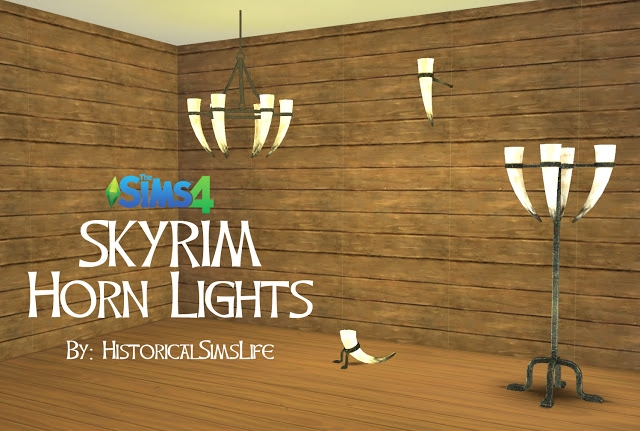 Skyrim Horn Lights by HistoricalSimsLife