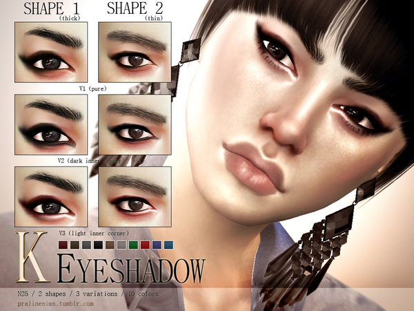 K Eyeshadow N25 by Pralinesims