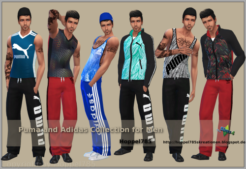 Puma and Adidas Collection for Males by Hoppel785
