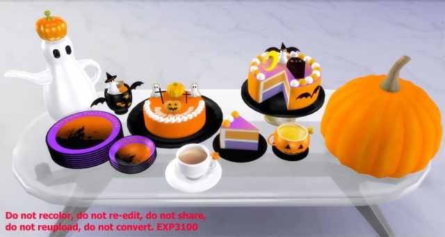 Helloween tea set by Exp3100