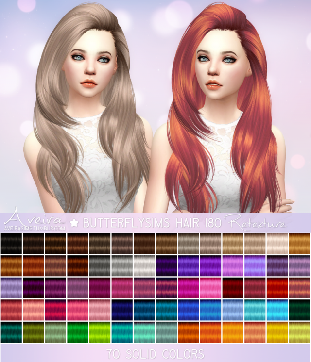 Butterflysims Hair 180 - Retexture by Aveira
