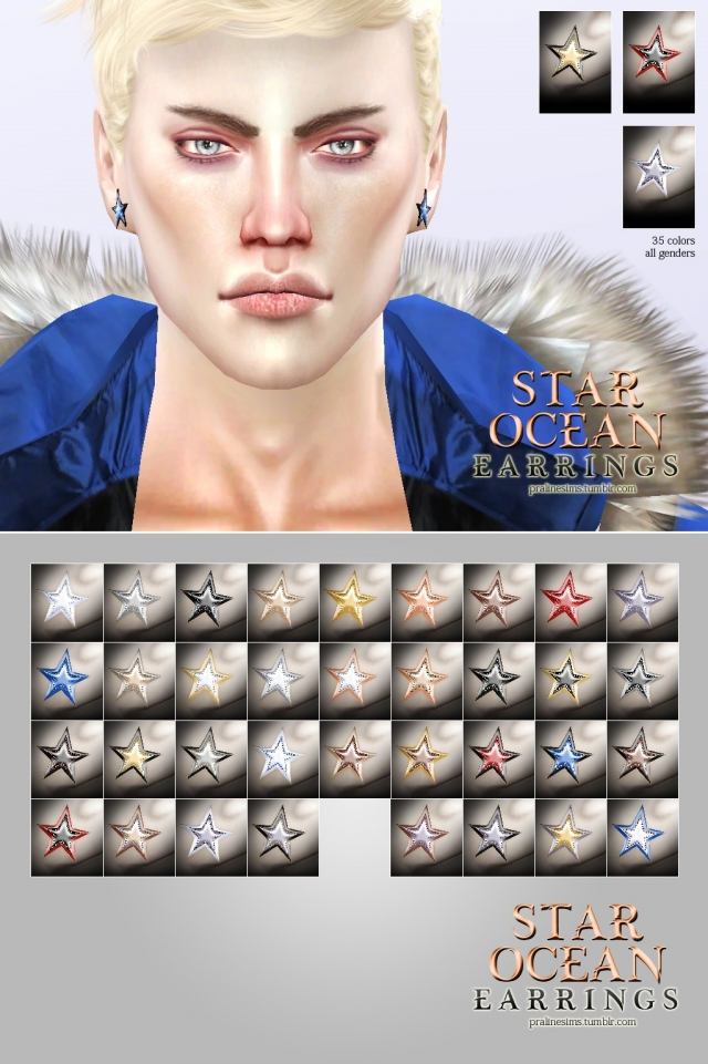 Star Ocean Earrings by Pralinesims