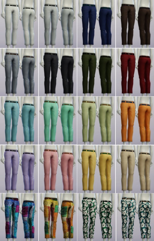 S4 Basic Slacks Male (20 color) by Rusty Nail