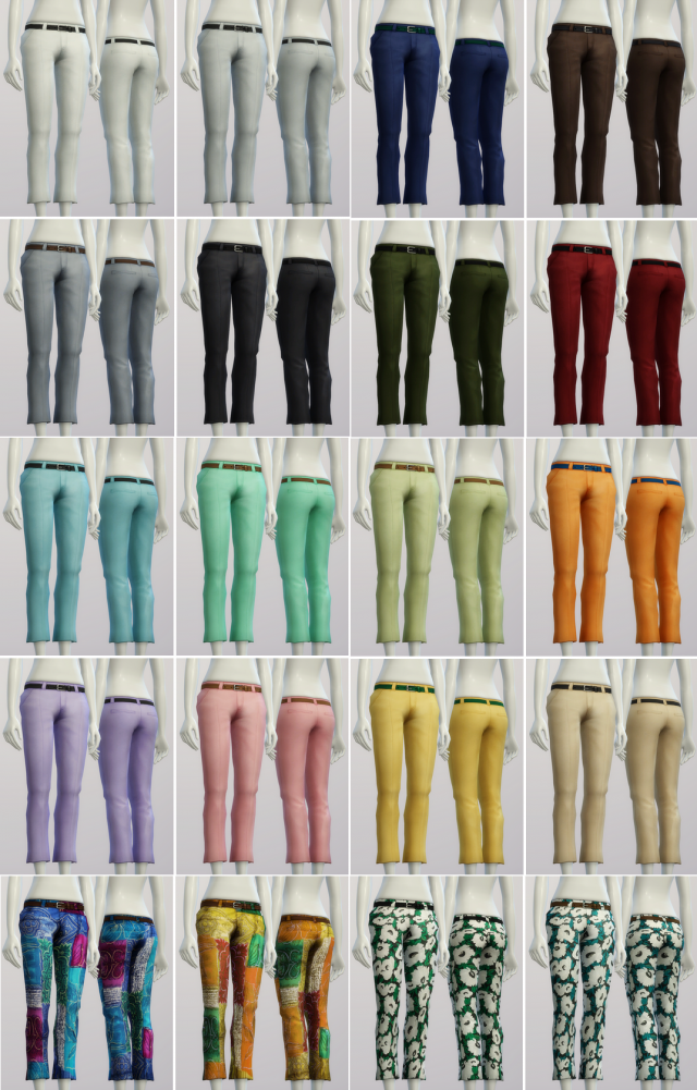 S4 Basic Slacks Female (20 color) by Rusty Nail