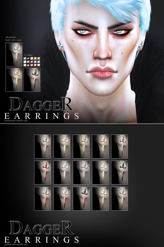Dagger Earrings by Pralinesims