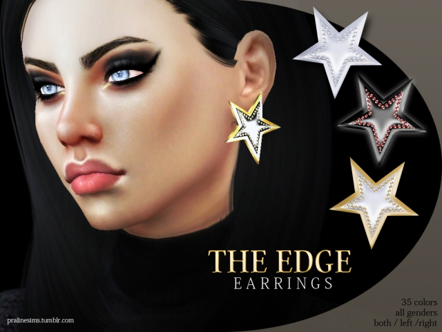 The Edge Earrings by Pralinesims