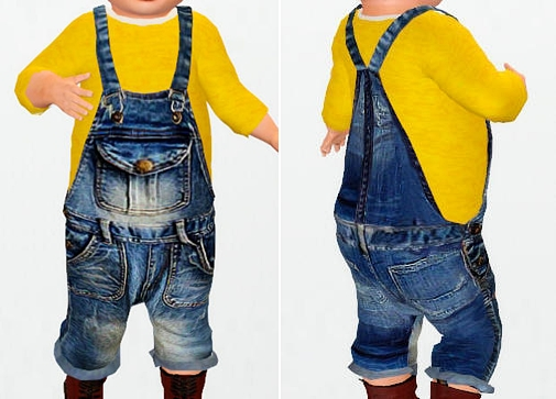 Jean Overalls Includes shirt by ninyo