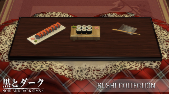 TS4 - Sushi Collection by Noiranddarksims
