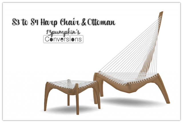 TS3 Pocci Harp Chair and Ottoman Conversion by 13Pumpkin31